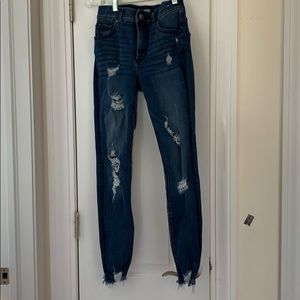Ankle high rise jeans
